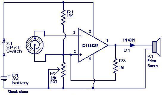 الکترونیک - مدار دزدگیر برای ماشین ، موتور و درب ها
